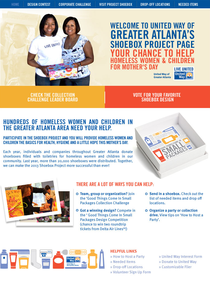 United Way of Greater Atlanta Project Shoebox Web Application